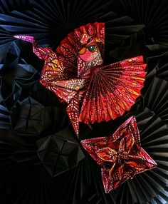 The Rooster and Fire Rooster are popular animals to be used in paper folding art. Its shapes and large variety of color patterns make it even more intriguing for an advanced 3D origami artist. Exploring Bali countryside for inspiration I have observed and studied these birds with great admiration.   #origami #sabbatha #origami #origamiart #origamiartist #papercraft #paperfolding #paperartist #artbali #artindonesia #baliart #bali #baliindonesia #balineseart #indonesiaart #indonesianart…