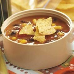 Refried Bean Soup - My sister said this is yummy - going to have to try it!