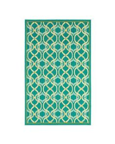 Shaw Living Rings,Turquoise 5 ft. 3 in. x 7 ft. 10 in. Indoor/Outdoor Area Rug from Home Depot   BHG.com Shop like colors/design