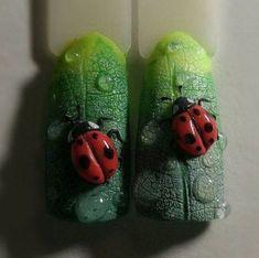 Fashion trends summer manicure new photos Cute Nail Art, 3d Nail Art, 3d Nails, Glitter Nails, Perfect Nails, Gorgeous Nails, 3d Nail Designs, Nails Design, Animal Nail Art