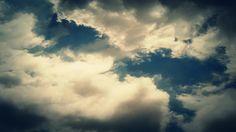 Fantastic Clouds 0110: Time lapse clouds travel across a dark blue sky.   A Luna Blue  http://www.alunablue.com  Imagery for Your Imagination
