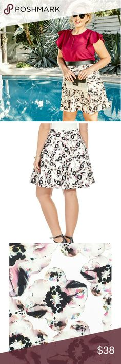 """ HOST PICK"" Floral printed skater skirt Beautiful floral printed skater skirt. worn once with a crop top. It was a little loose on me so I couldn't wear it as high on my waist as I wanted. The fabric is medium weight, stretchy, and super soft scuba material. Isabel + Alice Skirts"