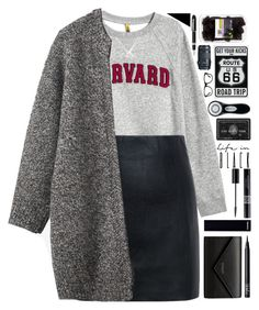 """""""Harvard Grad"""" by milkshakes-and-dogs ❤ liked on Polyvore featuring H&M, McQ by Alexander McQueen, Toast, Balenciaga, Chanel, NARS Cosmetics, Christian Dior, Eos, Clarisonic and Fountain"""