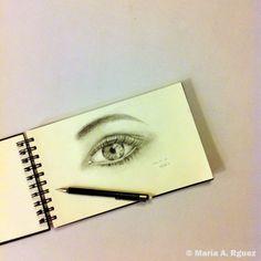 Aparcamos el lápiz | por hoy |  #BuenasNochesFamilia #Dibujo #Lápiz #Lapiz #Ojo