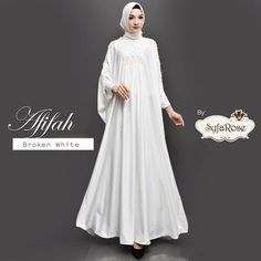 Afifah by Syfarose Broken White, Dresses With Sleeves, Long Sleeve, Fashion, Gowns With Sleeves, Moda, Full Sleeves, Fashion Styles, Fashion Illustrations