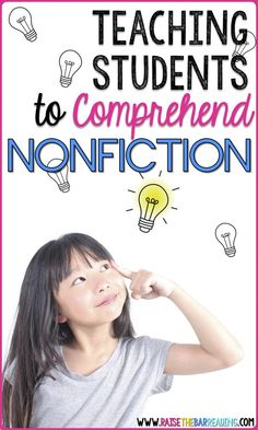 Teaching Students to Comprehend Nonfiction - Raise the Bar Reading Student Teaching, Teaching Reading, Guided Reading, Teaching Science, Teaching Ideas, Learning, Nonfiction Activities, Free Activities, Reading Comprehension Strategies