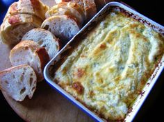 seriously delicious and so easy baked jalepeno and cheese dip - perfect for parties. take this to your next potluck party....