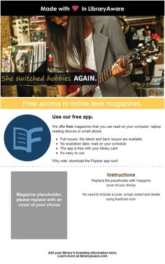 13 best promotional templates for ebsco customers images on let your patrons know about flipster magazines with this campaign fandeluxe Gallery