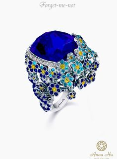 """Forget"" everything else ~ Dream come true!  Anna Hu ""Forget-Me-Knot"" Ring"