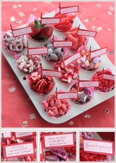 Valentine party food tray