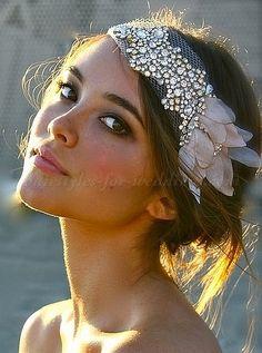 bridal headbands, wedding forehead band - bridal headband