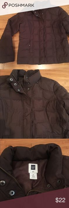 Gap puffer jacket Sure warm chocolate brown puffer jacket. All polyester fill. No flaws! GAP Jackets & Coats Puffers