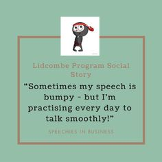 """Lidcombe Program for Childhood Stuttering Social Story: """"Sometimes my speech is bumpy - but I'm practising every day to talk smoothly! Focus On What Matters, To Focus, Social Stories, Childhood, Therapy, Children, Simple, Products, Young Children"""