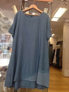 2 part Set-MB GERMANY Blue Quirky Lagenlook Tunic/Dress Size 3 (Fits 14-18)