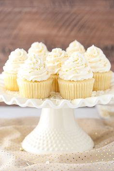 These Moist Vanilla Cupcakes are super easy to make and so moist – for days! They are my new favorite vanilla cupcake! I mentioned a couple weeks ago that I'd be bringing you some Moist Vanilla Cupcakes, Vanilla Cake, Mocha Cupcakes, Donut Cupcakes, Almond Cupcakes, White Cupcakes, Banana Cupcakes, Strawberry Cupcakes, Velvet Cupcakes