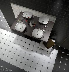 Octagon Marmol Blanco y negro