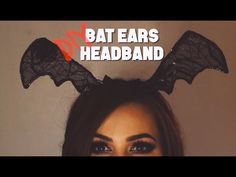 Hi all, hope you enjoy this tutorial on how to make your own bat ears, perfect for Halloween! Save yourself some money and get creative this Halloween and ma. Halloween Bats, Halloween 2019, Halloween Ideas, Bat Costume, Costume Halloween, Ear Headbands, Diy Videos, Overlays, Spider