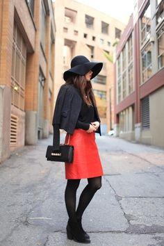 orange skirt!