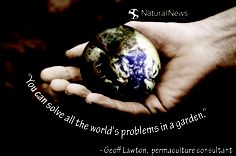 """""""You can solve all the world's problems in a garden.""""   ― Geoff Lawton Health Freedom!"""