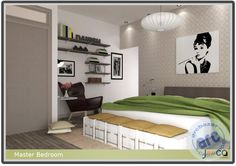 Arcbazar.com bedroom design contest submission by Jooca Studios