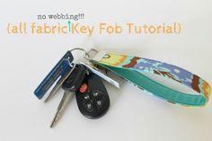 Sew Chatty: {let's make your keys cute}....all fabric key fob wristlet tutorial :)