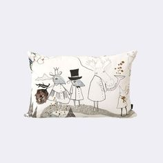 Mountain Friends Cushion FERM LIVING 60x40 GBP 46 madeindesign.co.uk (cheapest) - 2 sided - horse other side