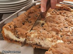 Chocolate Chip Cheesecake Bars. Made in a 9x13 pan. Soooo easy...only 5 ingredients! ....I shouldn't pin this