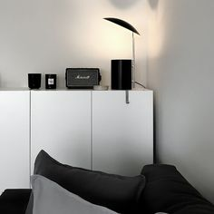 Marshall Kilburn bluetooth speaker at a bachelor studio