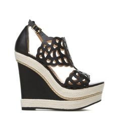 Morela black and natural wedges - ShoeDazzle - #FireWorkIt ❤