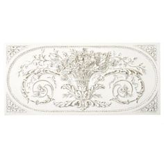 A detailed relief of a Parisian architectural find. Its hand finishing gives lightweight urethane an aged look. Grande Bouquet Plaque features: Rubbed White finish with wood accents Covered outdoor only Wall Plaques, Wall Signs, White Washed Oak, Double French Doors, Brick Fireplace Makeover, Architectural Antiques, Unique Wall Art, Wood Accents, Ballard Designs