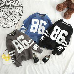 2018 Spring New Boys Jumpers Kids Sweatshirt Long Sleeve Cotton Numbers Casual Tee Shirt //Price: $81.75 //     ##babyfashion