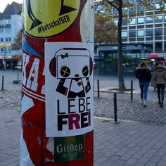 Cologne here we go again  #sticker #streetart #pandakratie #stickertrades #vivelibre #bamboo #pandaismus #propapanda #streetart #lebefrei #lebefrei #stickerart #stickertrade #pandakratie #stickerporn #stickerslap #colognestreetart #fächerstadt #stickerartist #slaps #streetart #kawaii #stickergalerie #stickerartgermany #aufkleberkunst #stickers #stickerporn #freedom #streetphotography #inthestreets