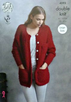 18ed9d87c Short Sleeved Cardigan Knitted in Riot DK - King Cole