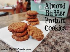 Looking for a sweet treat that won't derail your nutrition goals? Check out these delicious and easy to make Almond Butter Protein Cookies, they're dairy and egg free! - @TheFitCookie #glutenfree #dairyfree #eggfree