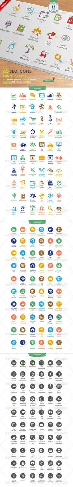 GraphicRiver SEO Services Icons 3337523