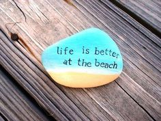 Relaxing at the beach clears the mind & soul.