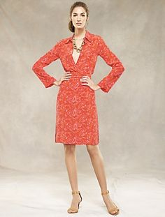 Silk Paisley Shirtdress. Inspired by a dress our designers found on a vintage buying trip in California.