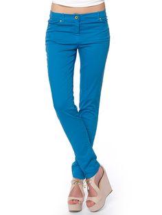 #blue_pants#long for #summer_mood Slim Fit Pants, Blue Pants, Long Pants, Workout Pants, Capri Pants, Mood, Fitness, Summer, Fashion