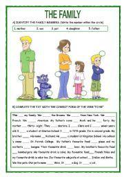 English worksheet: The Family