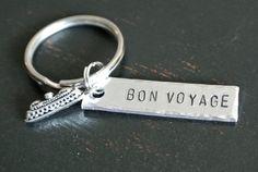 Bon Voyage Cruise Ship Keychain Metal Stamp by AshleyLorrenDesigns