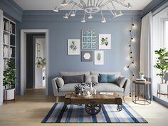 Blue Living Room Decor, Paint Colors For Living Room, New Living Room, Interior Design Living Room, Living Room Designs, Small Living, Room Wall Colors, Home Decor, Salon Ideas