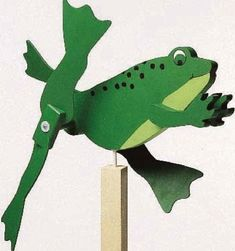 19-w891 - Frog Whirligig Woodworking Plan - Woodworkersworkshop® Online Store