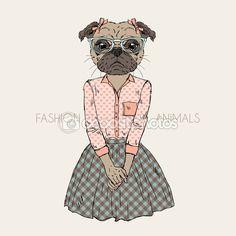 Ilustración de animales de manera — Ilustración de stock #74135475