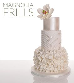 Learn how to make this ruffled wedding cake
