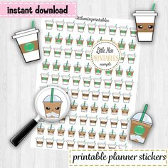 Coffee Planner Stickers #coffee #coffeestickers #plannerstickers #Planners #stickers