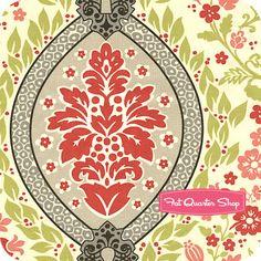 Secret Garden Green Tea by Sandi Henderson for Michael Miller Fabrics