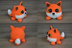 Ravelry: Amigurumi fox Lucian pattern by Ami Little Creature Crochet Amigurumi Free Patterns, Crochet Fox, Crochet Animals, Crochet Yarn, Crochet Hooks, Free Crochet, Crochet Ideas, Amigurumi Tutorial, Fox Pattern