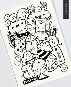 doodle easy drawing doodles simple designs sketches those random drawings wall sketch doodling touch piccandle