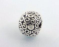 NEW!!! Original-Pandora-Bead-925-ALE-Clip-Fire-Clear-Cubic-Zirconia-Charm- 790962CZ
