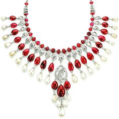 @thejewellcloset Stunning Pearl, Diamond & Ruby necklace  by  Viren Bhagat.